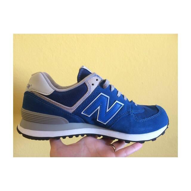 new balance 574 blu elettrico